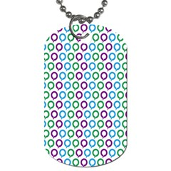 Polka Dot Like Circle Purple Blue Green Dog Tag (one Side) by Mariart