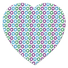 Polka Dot Like Circle Purple Blue Green Jigsaw Puzzle (heart) by Mariart