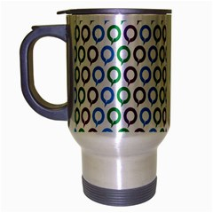 Polka Dot Like Circle Purple Blue Green Travel Mug (silver Gray) by Mariart