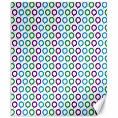 Polka Dot Like Circle Purple Blue Green Canvas 8  X 10  by Mariart