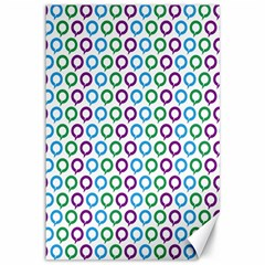 Polka Dot Like Circle Purple Blue Green Canvas 12  X 18   by Mariart