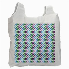 Polka Dot Like Circle Purple Blue Green Recycle Bag (one Side) by Mariart