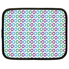 Polka Dot Like Circle Purple Blue Green Netbook Case (xl)  by Mariart