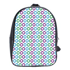 Polka Dot Like Circle Purple Blue Green School Bags(large)  by Mariart