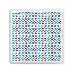 Polka Dot Like Circle Purple Blue Green Memory Card Reader (square)  by Mariart