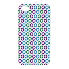 Polka Dot Like Circle Purple Blue Green Apple Iphone 4/4s Premium Hardshell Case by Mariart
