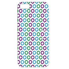 Polka Dot Like Circle Purple Blue Green Apple Iphone 5 Hardshell Case With Stand