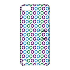 Polka Dot Like Circle Purple Blue Green Apple Ipod Touch 5 Hardshell Case With Stand