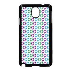 Polka Dot Like Circle Purple Blue Green Samsung Galaxy Note 3 Neo Hardshell Case (black) by Mariart