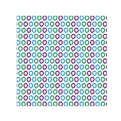 Polka Dot Like Circle Purple Blue Green Small Satin Scarf (square) by Mariart