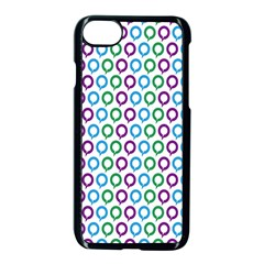 Polka Dot Like Circle Purple Blue Green Apple Iphone 7 Seamless Case (black) by Mariart