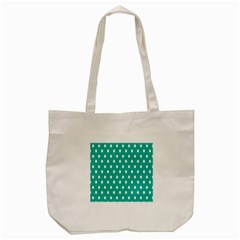 Polka Dots White Blue Tote Bag (cream) by Mariart