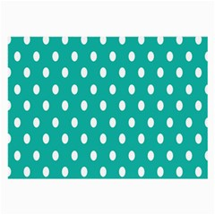 Polka Dots White Blue Large Glasses Cloth (2 Side) by Mariart