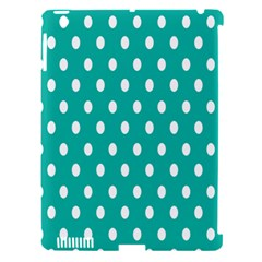Polka Dots White Blue Apple Ipad 3/4 Hardshell Case (compatible With Smart Cover)