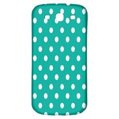 Polka Dots White Blue Samsung Galaxy S3 S Iii Classic Hardshell Back Case