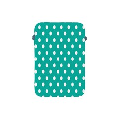 Polka Dots White Blue Apple Ipad Mini Protective Soft Cases by Mariart