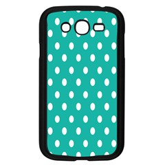 Polka Dots White Blue Samsung Galaxy Grand Duos I9082 Case (black) by Mariart