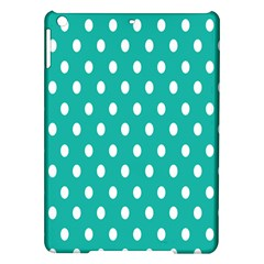 Polka Dots White Blue Ipad Air Hardshell Cases by Mariart