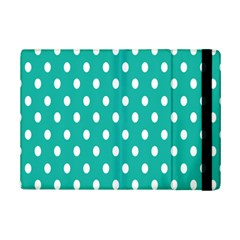 Polka Dots White Blue Ipad Mini 2 Flip Cases by Mariart