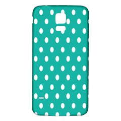 Polka Dots White Blue Samsung Galaxy S5 Back Case (white)