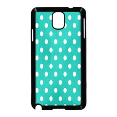 Polka Dots White Blue Samsung Galaxy Note 3 Neo Hardshell Case (black) by Mariart