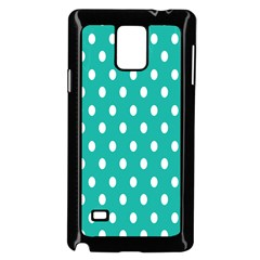 Polka Dots White Blue Samsung Galaxy Note 4 Case (black) by Mariart