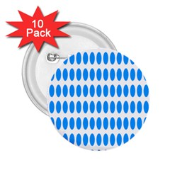 Polka Dots Blue White 2 25  Buttons (10 Pack)  by Mariart