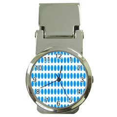 Polka Dots Blue White Money Clip Watches by Mariart