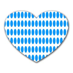Polka Dots Blue White Heart Mousepads by Mariart