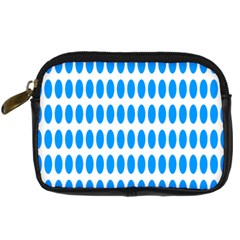 Polka Dots Blue White Digital Camera Cases by Mariart