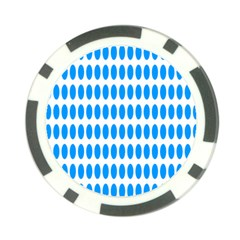 Polka Dots Blue White Poker Chip Card Guard (10 Pack) by Mariart