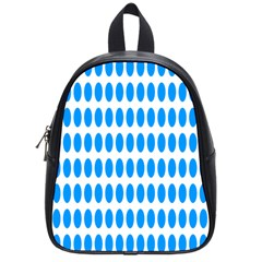 Polka Dots Blue White School Bags (small)  by Mariart