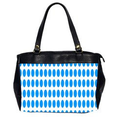 Polka Dots Blue White Office Handbags (2 Sides)  by Mariart