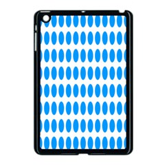 Polka Dots Blue White Apple Ipad Mini Case (black) by Mariart