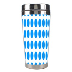 Polka Dots Blue White Stainless Steel Travel Tumblers by Mariart