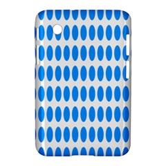 Polka Dots Blue White Samsung Galaxy Tab 2 (7 ) P3100 Hardshell Case  by Mariart