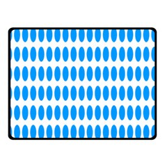 Polka Dots Blue White Double Sided Fleece Blanket (small)  by Mariart