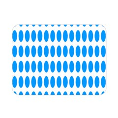 Polka Dots Blue White Double Sided Flano Blanket (mini)  by Mariart