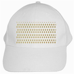 Polka Dots Gold Grey White Cap by Mariart