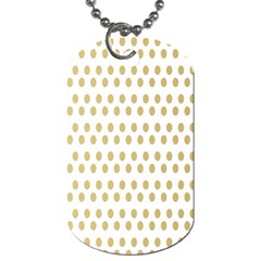 Polka Dots Gold Grey Dog Tag (one Side) by Mariart