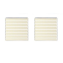 Polka Dots Gold Grey Cufflinks (square) by Mariart