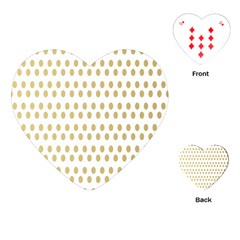 Polka Dots Gold Grey Playing Cards (heart)  by Mariart
