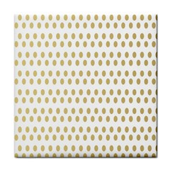 Polka Dots Gold Grey Face Towel by Mariart