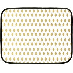 Polka Dots Gold Grey Double Sided Fleece Blanket (mini)  by Mariart