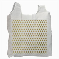 Polka Dots Gold Grey Recycle Bag (one Side) by Mariart