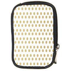 Polka Dots Gold Grey Compact Camera Cases by Mariart