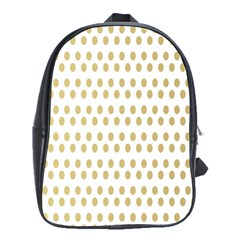Polka Dots Gold Grey School Bags(large)