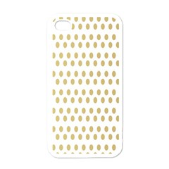 Polka Dots Gold Grey Apple Iphone 4 Case (white) by Mariart
