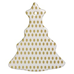 Polka Dots Gold Grey Christmas Tree Ornament (two Sides) by Mariart