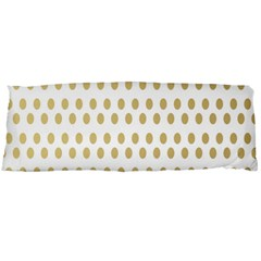 Polka Dots Gold Grey Body Pillow Case Dakimakura (two Sides) by Mariart